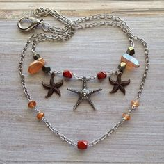A personal favorite from my Etsy shop https://www.etsy.com/listing/221055539/starfish-necklace-with-peach-quartz-all
