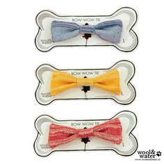 The Pet Bow Ties are handcrafted in Amsterdam, knitted in washable Cotton & absolutely tested on Cats & Dogs of all sizes and breeds to ensure the final product is pet friendly & comfortable. Is your Puss the Cat's Miaow or your Dog a Dapper Chap? Then these collar attachments were knitted especially for them. Each design is 1 of only 25 made & comes with it's specific Edition tag.