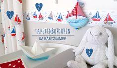 Babyzimmer mit Bordüren gestalten - Babyzimmerideen bei Fantasyroom