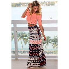 Get this awesome Navy and Neon Pink Chevron Maxi Skirt from Saved by the Dress Boutique! Must have chevron skirt for summer! Chevron Maxi Skirts, Printed Maxi Skirts, Cheap Skirts, Cute Crop Tops, Boho Skirts, Summer Skirts, Boutique Dresses, Skirt Set, Clothes For Women