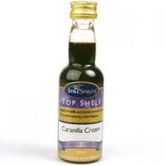 Still Spirits Top Shelf Cream Liqueur Caranilla Cream    A delicious blend of vanilla and sweet caramel... mouthwatering!    No entertaining would be complete without a bottle of Still Spirits Cream Liqueur!     Ceam Liqueurs are quick and easy to make - simply add your Still Spirits Cream Liqueur Essence to a Still Spirits Cream Liqueur Base Pack, (purchased separately from our website) along with 40 % ABV alcohol according to essence label instructions, and top up with water.