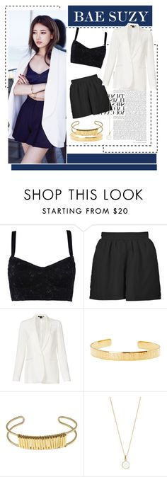 """Bae Suzy Inspired: Cosmopolitan Korea"" by predilectionist ❤ liked on Polyvore featuring Dolce&Gabbana, Boohoo, Theory, Letters By Zoe, Nashelle and Accessorize"