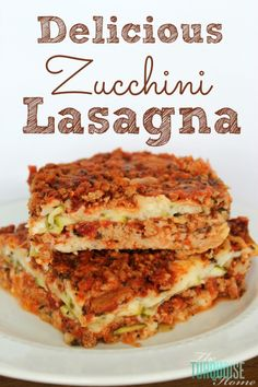 A great way to sneak more veggies into your meals ... Delicious Zucchini Lasagna.