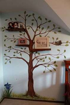 Mural Tree with shelves - DIY