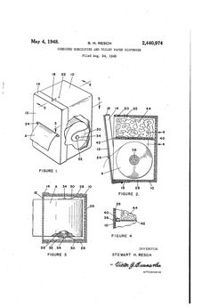 Patent US2440974 - Combined humidifier and toilet paper dispenser - Google Patents Toilet Paper Dispenser, Patent Pending, Humidifier, Google, Humidifiers