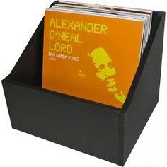 Storage and Display Box for Vinyl Records High Density Fiber MDF wood Storage Capacity 40 to 100 LP's - Vinyl Gourmet