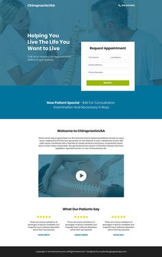 If you are a health care specialist and want to capture clients online then you can use this chiropractic care landing page design.