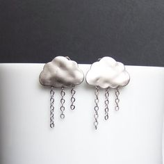 Rain Showers Earrings by IndependentJewelry - Etsy