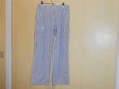 Lauren Jeans Co Jeans Ralph Lauren Green LabelWomens 8 Striped Blue White Denim  #ChristopherBlue #StraightLeg
