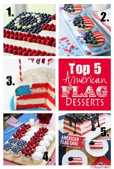 Best Flag Desserts (Cakes and Cupcakes) to Celebrate the Fourth of July | FiveHeartHome.com