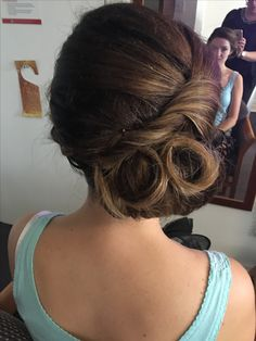 Twist and looped updo