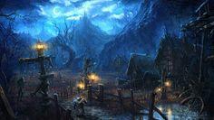 Moonlight village_Tera by moonworker1.deviantart.com on @deviantART