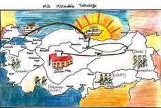 4.sınıf milli mücadele haritası ile ilgili görsel sonucu