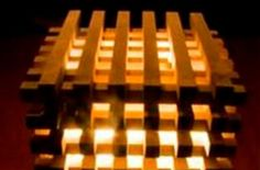 Wooden Cube Lamp -lighting -decoration -woodworking