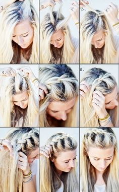 Braided bangs.
