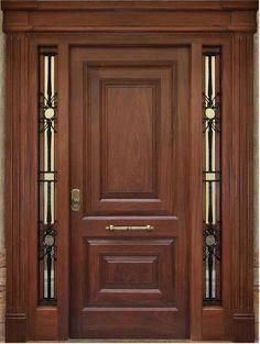 Puertas principales de madera con vidrio