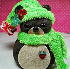 Up On Tippy Toes ~ Bear ~ Sock Creations
