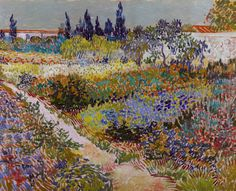 Garden with Flowers by Vincent van Gogh