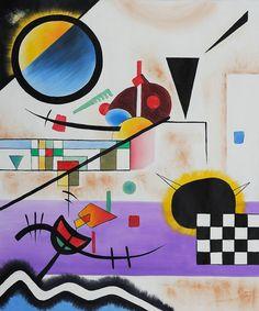 Wassily Kandinsky, Contrasting Sounds, 1924.