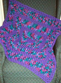Free Crocheted Purple Delight Granny Square Afghan