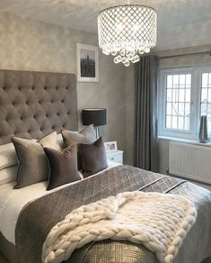 26 romantic master bedroom design ideas 25 ⋆ All About Home Decor Romantic Master Bedroom, Master Bedroom Design, Cozy Bedroom, Beautiful Bedrooms, Home Decor Bedroom, Bedroom Ideas, Bedroom Layouts, Master Suite, Bedroom Designs