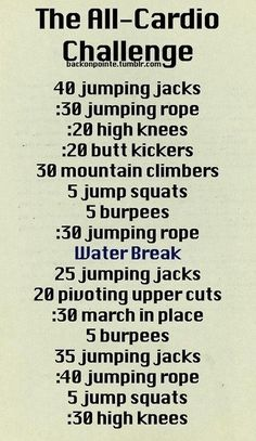 Just did this: The All-Cardio Challenge. Burned soo good.
