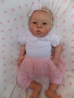 Reborn Baby Doll Laura Tuzio Ross Eleanor Anne or Wai Ling Cute, HTF Part Asian