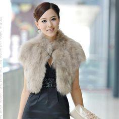 Faux Fox Fur Short Coat 2015 Female Autumn and Winter Plush Leather Jacket Shawl Coletes Femininos De Pele