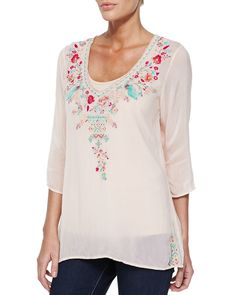 Johnny Was Collection Priscilla Embroidered Tunic