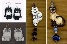 how to make beaded skeleton earrings Seed Bead Art, Seed Bead Jewelry, Seed Bead Earrings, Beaded Jewelry, Crochet Earrings, Seed Bead Projects, Beading Projects, Seed Bead Patterns, Beading Patterns