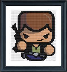 HAN SOLO Cross Stitch Pattern  Instant Download por LaEsquinaDeLuna