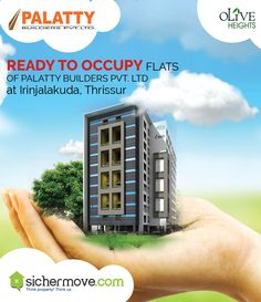"""Don't be afraid to start over. It's a brand new opportunity to rebuild what you truly want. "" #ReadytoOccupyFlats of Palatty Builders Pvt. Ltd.  #flatforsaleinIrinjalakuda #flatforsaleinthrissur #Apartmentsforsaleinthrissur.#ApartmentsforsaleiniIrinjalakuda #ReadytoOccupyFlatsinthrissur##ReadytoOccupyFlatsinIrinjalakuda For more information please click on: - http://bit.ly/28XpRTE Buy/sell/rent Properties???....Log on to www.sichermove.com or call 9061681333/222/444 Think Property!!! Think"