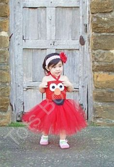 I don't think I'd ever get this off my DD! Elmo Tutu Dress InspiredInfant by totsboutique on Etsy, $35.00