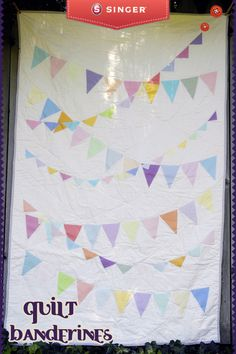 Quilt banderines multicolor #Quilt #yolohice #Singer #costura #colores