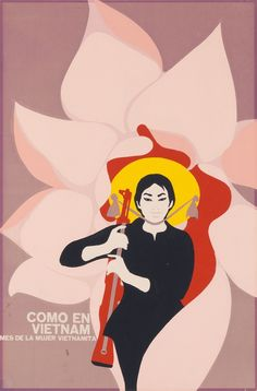 """These posters by Cuban artist Felix René Mederos Pazos were the product of a trip Mederos took to Vietnam in 1969, on assignment from the Cuban government's Department of Revolutionary Orientation.  Cuban artists often addressed international subjects, in alignment with the Cuban Revolution's political focus. (Other posters produced around this time expressed solidarity with anti-colonial guerrillas in Angola, Black Panthers in Watts, and the people of Hiroshima.)"""