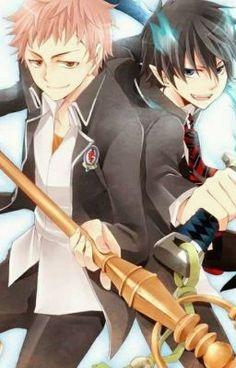 Shima Renzou and Rin Okumura my favorite boys from blue exorcist ❤️❤️ Ao No Exorcist, Blue Exorcist Anime, Rin Okumura, Anime Manga, Anime Guys, Anime Art, Fullmetal Alchemist, Donut The Dog, Scary Facts