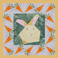 """""""Bunny Hop"""" is a free foundation-piecing quilt pattern, available online from Quilters Newsletter."""