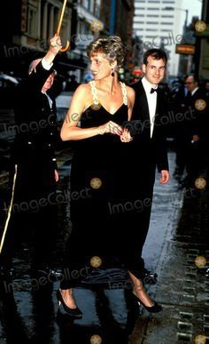 """July 22, 1991: Prince Charles and Princess Diana arrive at the Empire theatre, Leicester Square for the premiere of the film, """"Backdraft"""". After the show they met the principal actors Kurt Russell & William Baldwin."""