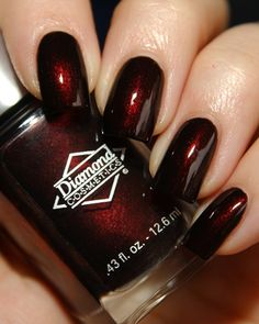 I Want This Color Nail Polish Diamond Cosmetics Cherry Fancy Nails, Love Nails, How To Do Nails, My Nails, Fabulous Nails, Gorgeous Nails, Pretty Nails, Red Nail Designs, Colorful Nail Designs