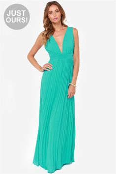 LULUS Exclusive Ciao, Ciao Bella Aqua Maxi Dress at LuLus.com! Great prices on dresses!