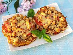 Tradycyjna kuchnia Kasi: Placki ziemniaczane a'la pizza z kurczakiem i pieczarkami Cauliflower, Vegetables, Food, Cauliflowers, Meal, Head Of Cauliflower, Essen, Vegetable Recipes, Hoods