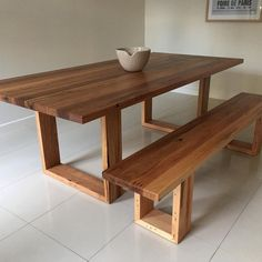 Melbourne recycled timber table with modern by RetrogradeMelbourne Diy Furniture Projects, Woodworking Furniture, Upcycled Furniture, Rustic Furniture, Furniture Design, Furniture Stores, Furniture Outlet, Fine Furniture, Dining Table Design