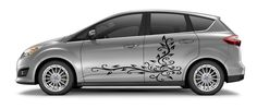 CAR VINYL SIDE GRAPHICS DECAL STICKER Abstract Design Floral Pattern A1442