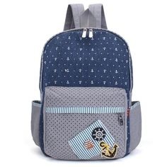 Canvas Women Dot Popsicles Hands Pattern Leisure Backpack