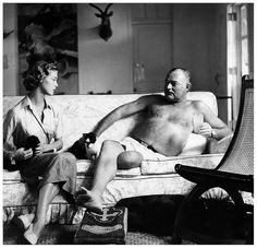 Cuba 1950 Shirtless.  More taxidermy.