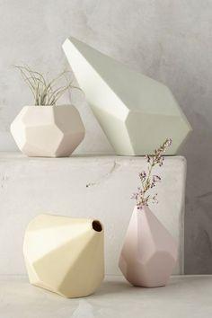 Faceted Ceramic Vase #anthroregistry