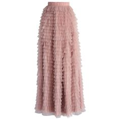 Chicwish Swan Cloud Maxi Skirt in Rouge Pink (1.870 UYU) ❤ liked on Polyvore featuring skirts, bottoms, maxi skirt, pink, layered maxi skirt, long skirts, red lace skirt, long red maxi skirt and long lace skirt