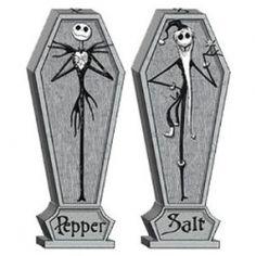 Nightmare Before Christmas Coffin Salt & Pepper Shakers