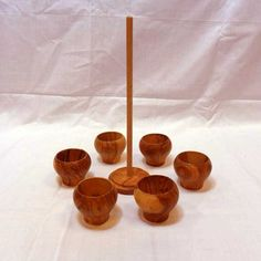 Handmade Wooden Egg Cups Set - solivewood.com Egg Cups, Cupping Set, Handmade Wooden, Candle Holders, Candles, Products, Porta Velas, Candy, Candle Sticks