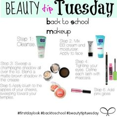 Beauty tip Tuesday - back to school makeup